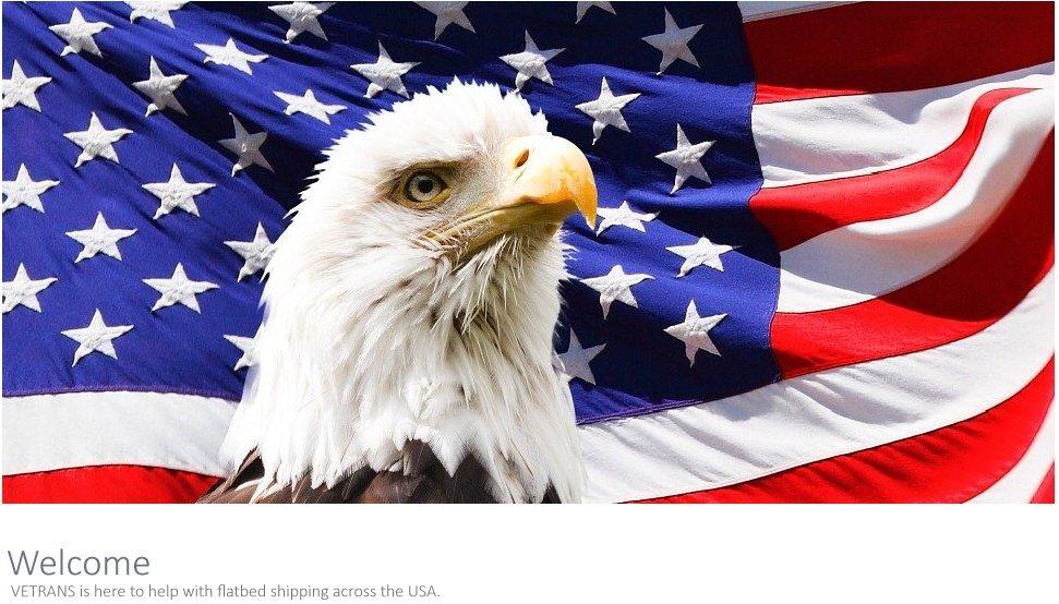 American Flag Painted on Door
